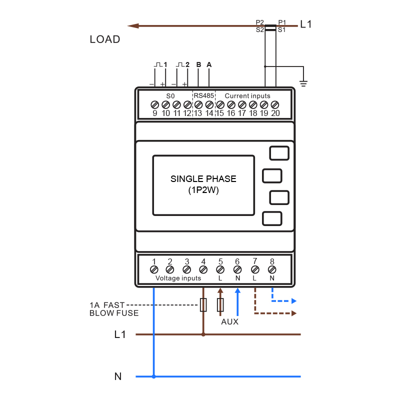 d h meters ltd rh dhmeters com single phase meter box wiring diagram single phase meter board wiring diagram